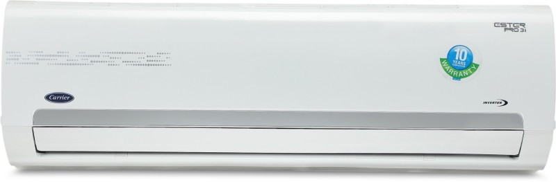 Carrier 1.5 Ton 3 Star BEE Rating 2018 Inverter AC - White(18K ESTER PRO INVERTER SPLIT AC (3 STAR)/CAI18ER3N8F0, Copper Condenser)