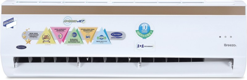 Carrier Hybridjet 2 Ton 5 Star BEE Rating 2018 Inverter AC - White(24K BREEZO INVERTER (5 STAR)/CAI24BR5B8F0, Copper Condenser)