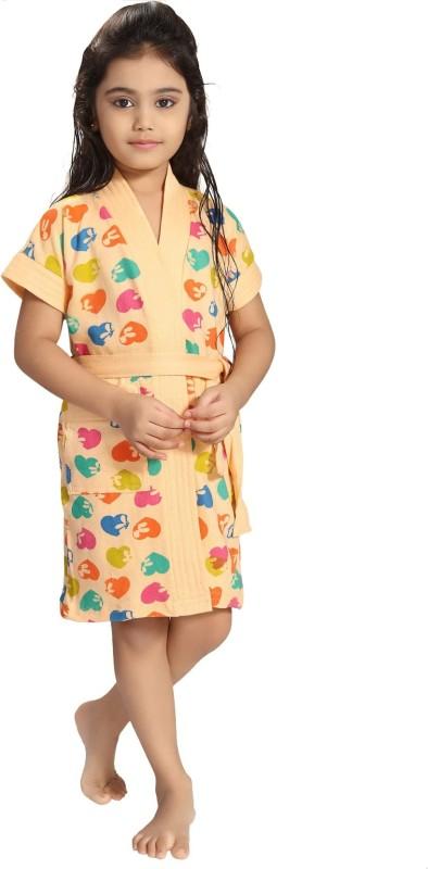 Be You Light Peach XS Bath Robe(1 Bathrobe with belt, For: Baby Boys & Baby Girls, Light Peach)