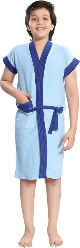 Be You Blue Small Bath Robe(1 Bathrobe with belt, For: Boys & Girls, Blue)