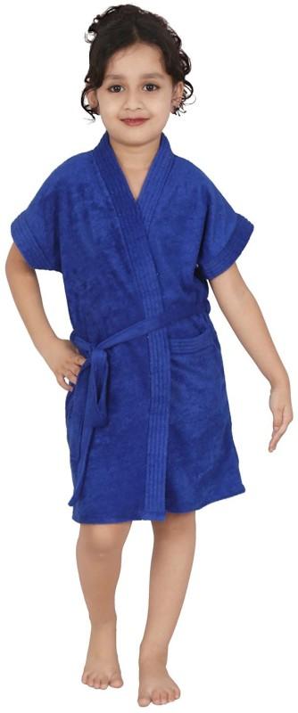 Be You Blue Medium Bath Robe(1 Bathrobe with belt, For: Boys & Girls, Blue)