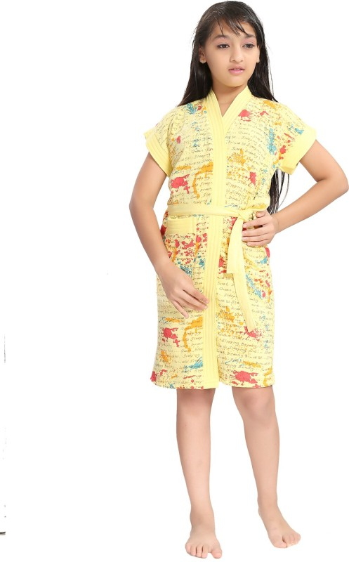 Be You Yellow XS Bath Robe(1 Bathrobe with belt, For: Baby Boys & Baby Girls, Yellow)
