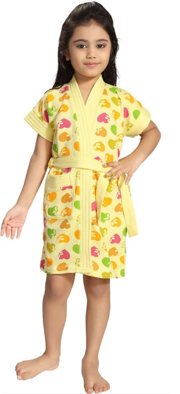 Be You Yellow XXS Bath Robe(1 Bathrobe with belt, For: Baby Boys & Baby Girls, Yellow)