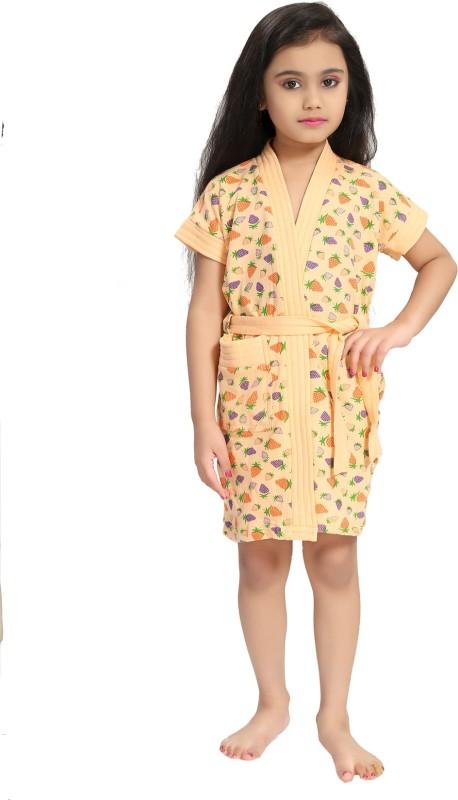 Be You Cream XS Bath Robe(1 Bathrobe with belt, For: Baby Boys & Baby Girls, Cream)