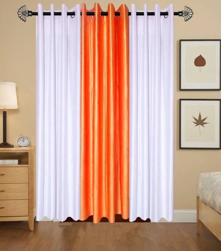 check MRP of orange living room curtains FIRSTLIKE