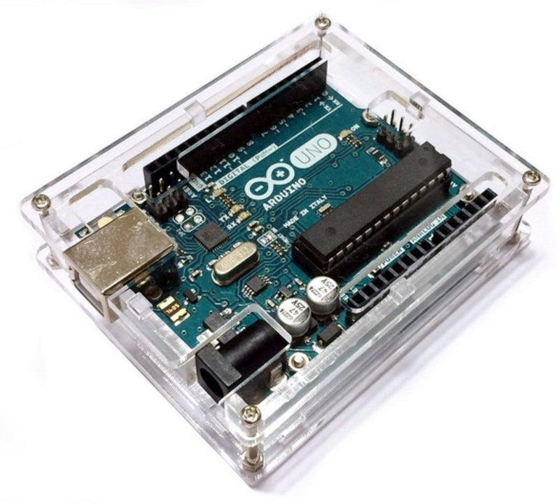 Electrobot Uno R3 Case Enclosure New Transparent Gloss Acrylic Computer Box Compatible with Arduino UNO R3(CASE ONLY) Dock(Multicolor)
