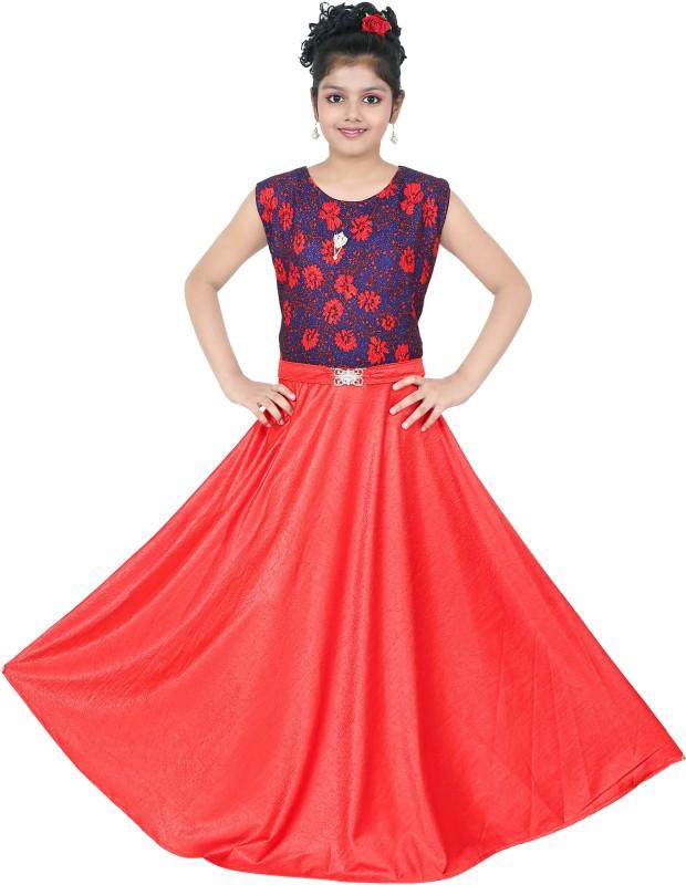 smartbazar Women's Maxi Multicolor Dress