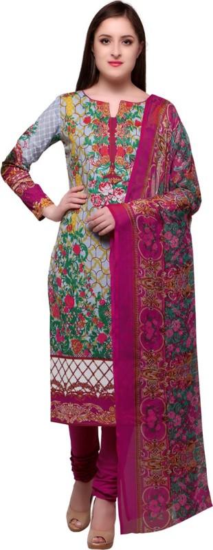 Saara Cotton Floral Print, Printed Salwar Suit Dupatta Material(Un-stitched)