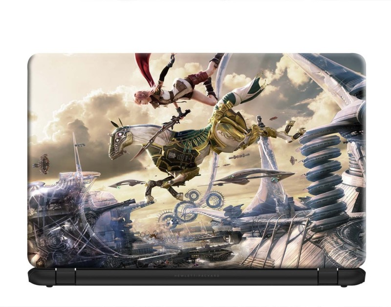 100yellow Laptop Skin   Final fantasy xiii Odin Gaming Skin   Laptop Skins sticker Decal 15.6 inch for Dell HP Acer Asus Lenovo PVC Vinyl Laptop Decal 15.6