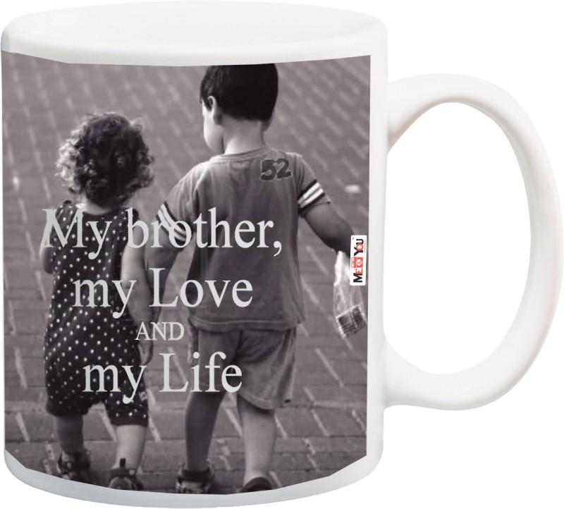 ME&YOU Rakhi Gifts, Rakhi Gift for Brother, Rakshabandhan Gifts, Birthday Gifts, Anniversary Gifts for Brother IZ18NSMU-228 Ceramic Mug(325 ml)