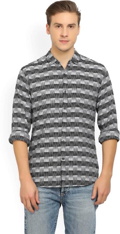 Wrangler Mens Checkered Casual Black Shirt