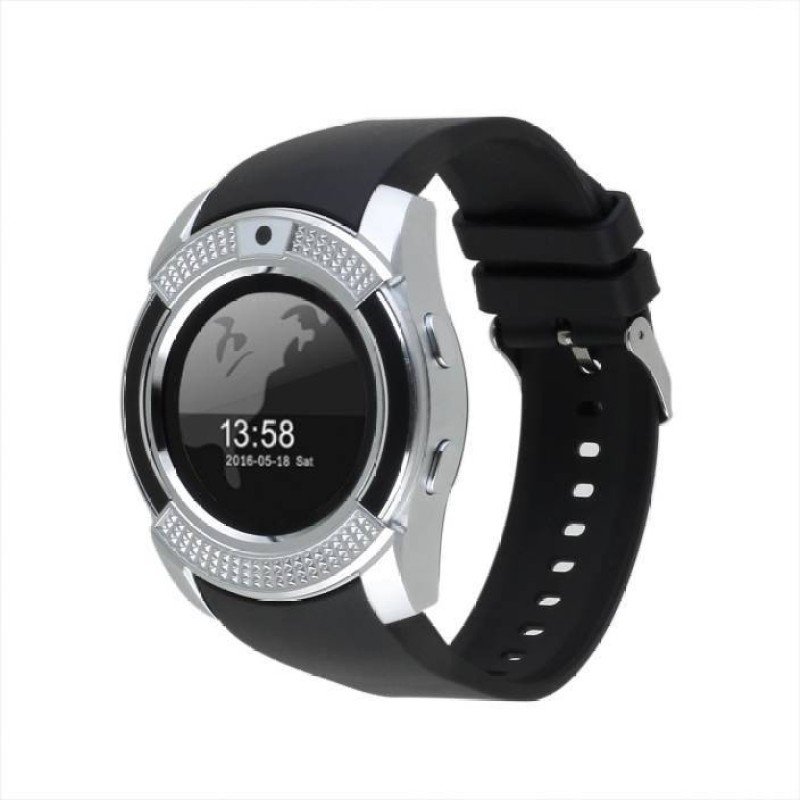 Estar V9 Wrist Watch Phone with Camera & SIM Card Support New Arrival Best Selling Premium Quality with Apps like Facebook / Whatsapp / QQ / WeChat / Twitter / Time Schedule / Read Message or News / Sports / Health / Pedometer / Sedentary Remind & Sleep Monitoring / Better Display / Loud Speaker /
