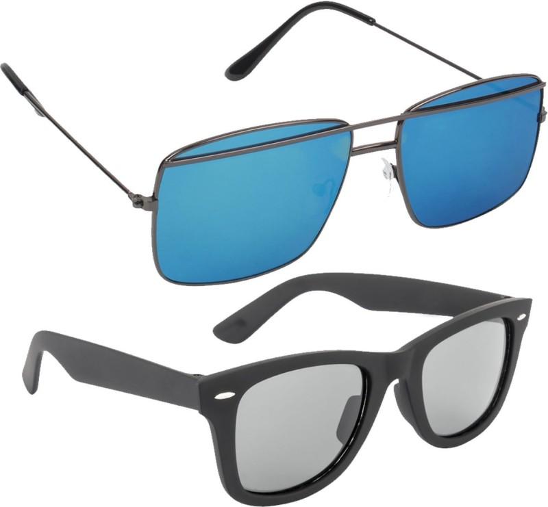 Froggy Wayfarer Sunglasses(Blue, Black) image
