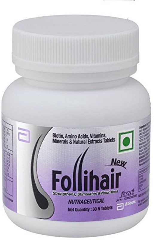Abbott New Follihair Biotin , Amino Acids, Vitamins(30 No)