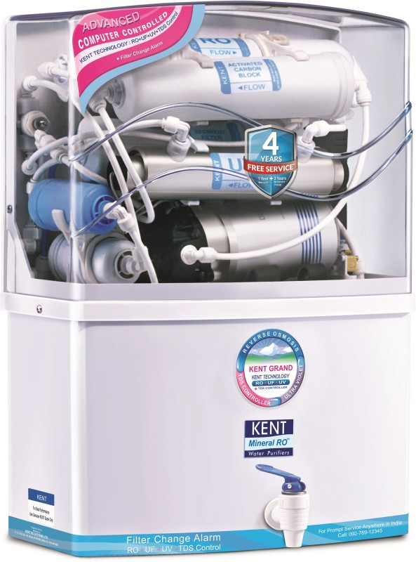 Kent GRAND MINERAL (11007) 8 L RO + UV + UF Water Purifier(White)