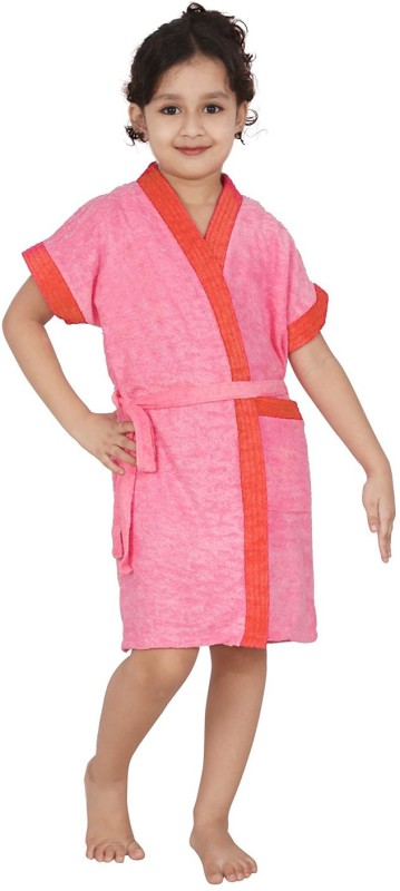 Be You Peach XXS Bath Robe(1 Bathrobe with belt, For: Baby Boys & Baby Girls, Peach)