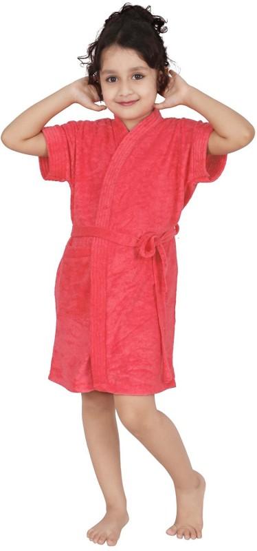 Be You Peach Small Bath Robe(1 Bathrobe with belt, For: Boys & Girls, Peach)