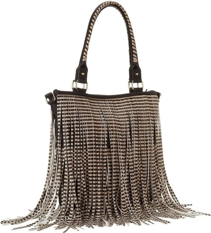 Steve Madden Hand-held Bag(Black, Silver)