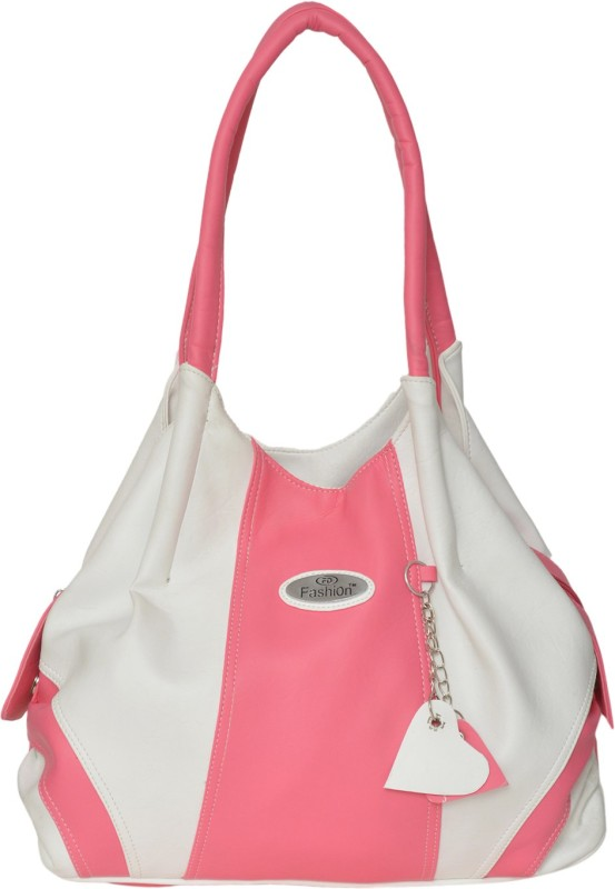 FD Fashion Hand-held Bag(Pink, White)