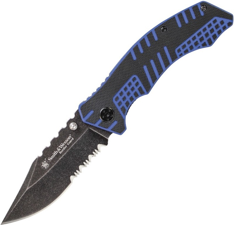 Smith And Wesson Smith & Wesson Liner Blue Back Knife Knife, Divers Knife, Combat Knife, Survival Knife, Blade, Campers Knife, Pocket Knife(Black, Blue)