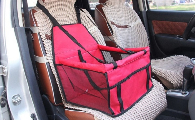 Sri High Quality Pet Back Seat Cover Mat Bag For Cars Waterproof Hammock Scratch Proof Dogs Cat Trucks SUV Auto Rear (Red) Hammock Pet Seat Cover(Red Waterproof)