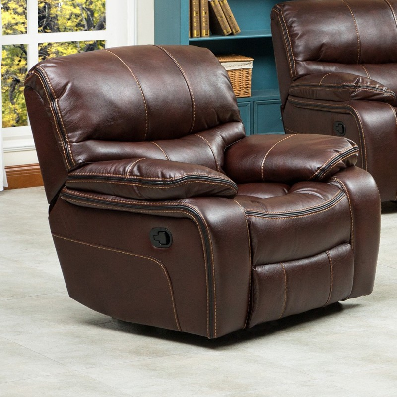 RoyalOak Leatherette Powered Recliners(Finish Color - Brown)
