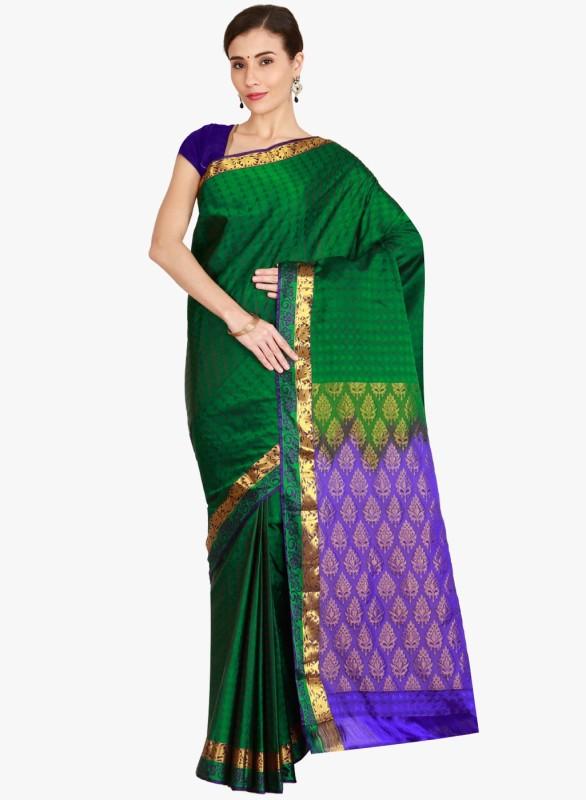 The Chennai Silks Self Design Banarasi Pure Silk Saree(Multicolor)