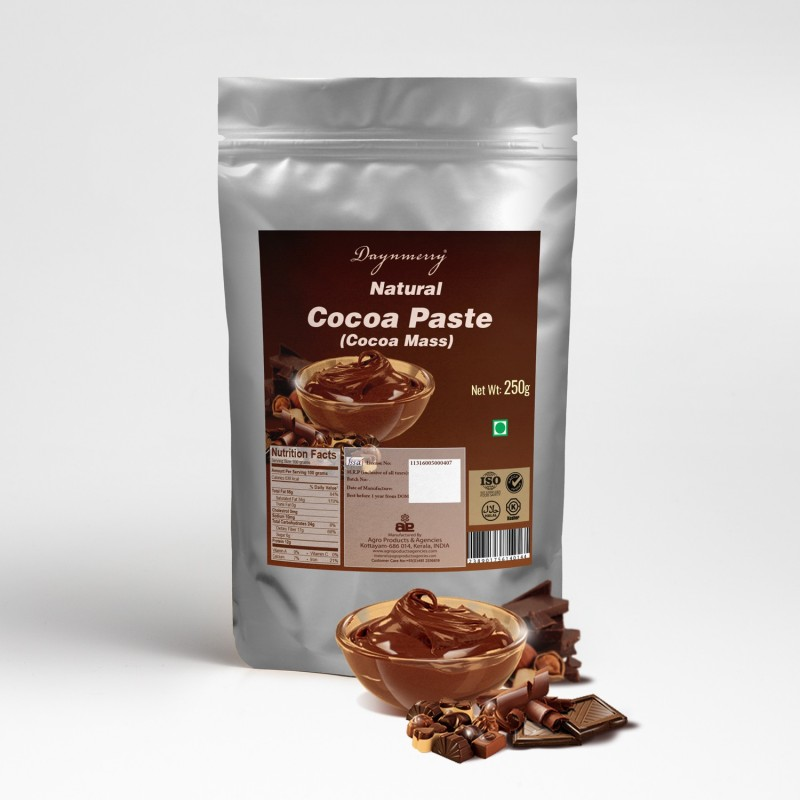 Daynmerry Natural Cocoa Paste - 250 gm Cocoa Paste(250 g)