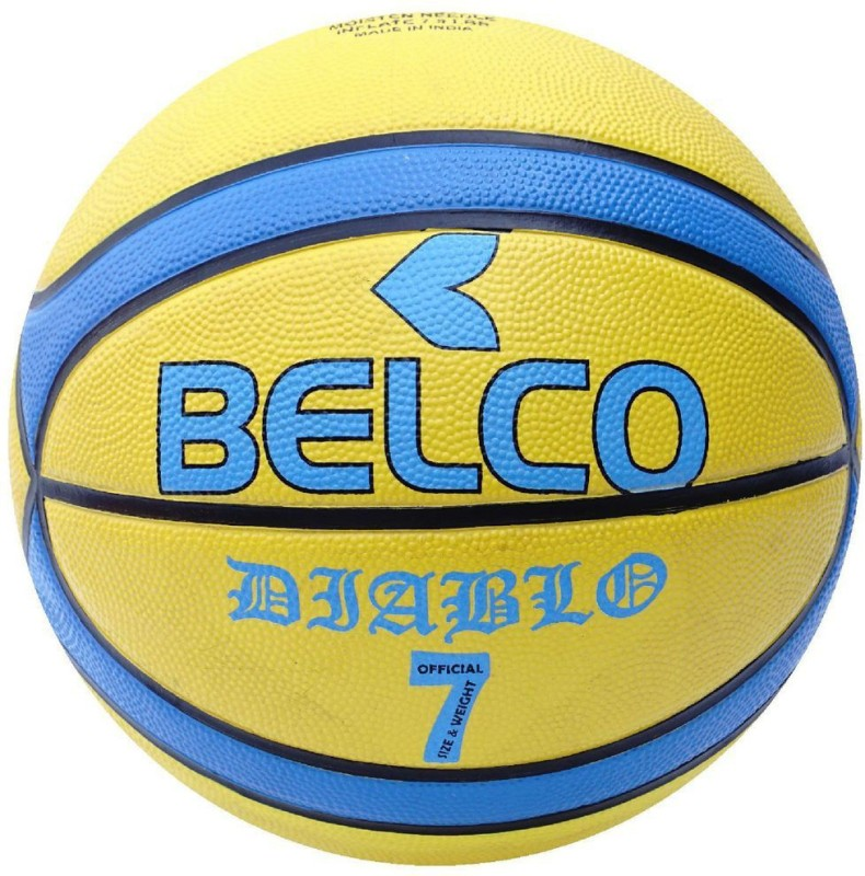 Belco New Diablo Basketball Size 7 Basketball - Size: 7(Pack of 1, Multicolor)