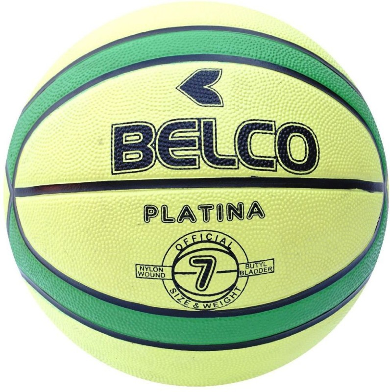 Belco New Platina Basketball Size 7 Green Basketball - Size: 7(Pack of 1, Multicolor)