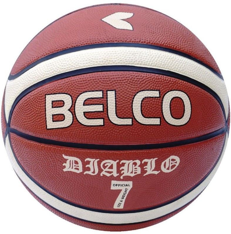 Belco New Diablo Basketball Size 7 Orange Basketball - Size: 7(Pack of 1, Multicolor)