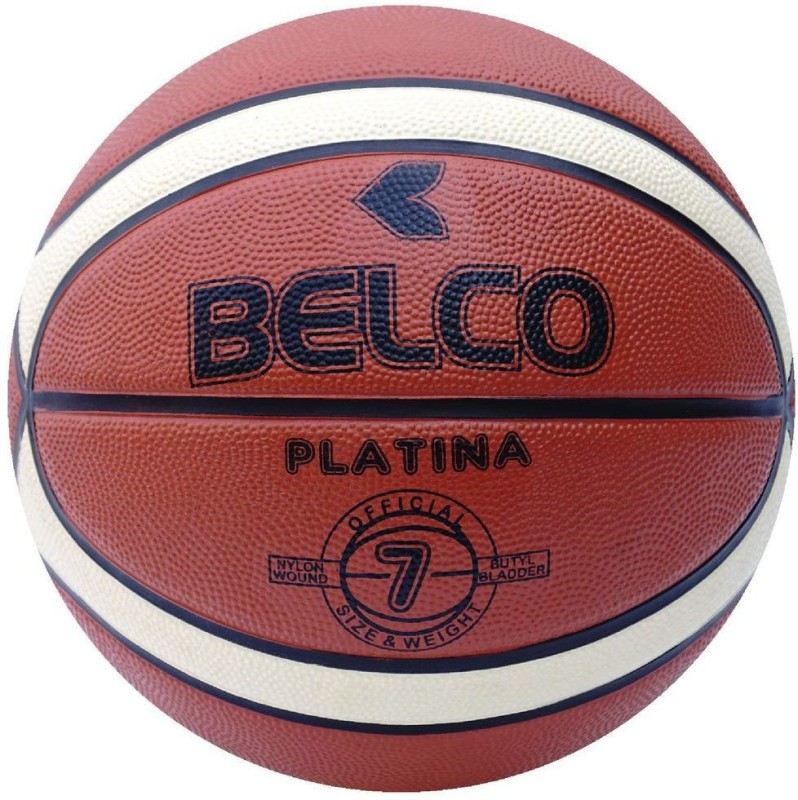 Belco New Platina Basketball Size 7 Orange Basketball - Size: 7(Pack of 1, Multicolor)