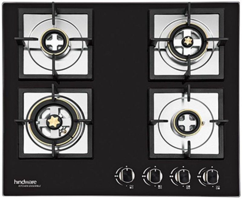 Hindware Hindware Flora Plus 4B 60 Glass Automatic Gas Stove(4 Burners)