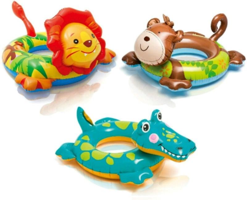 YAMAMA Intex Big Animal Rings 58221 ( 1 PIECE ) Inflatable Pool Accessory(Multicolor)