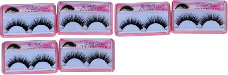 Shopeleven Eye Lashes with Lashes Glue (Combo)( pack of 4) (Pack of 4)(Pack of 6)