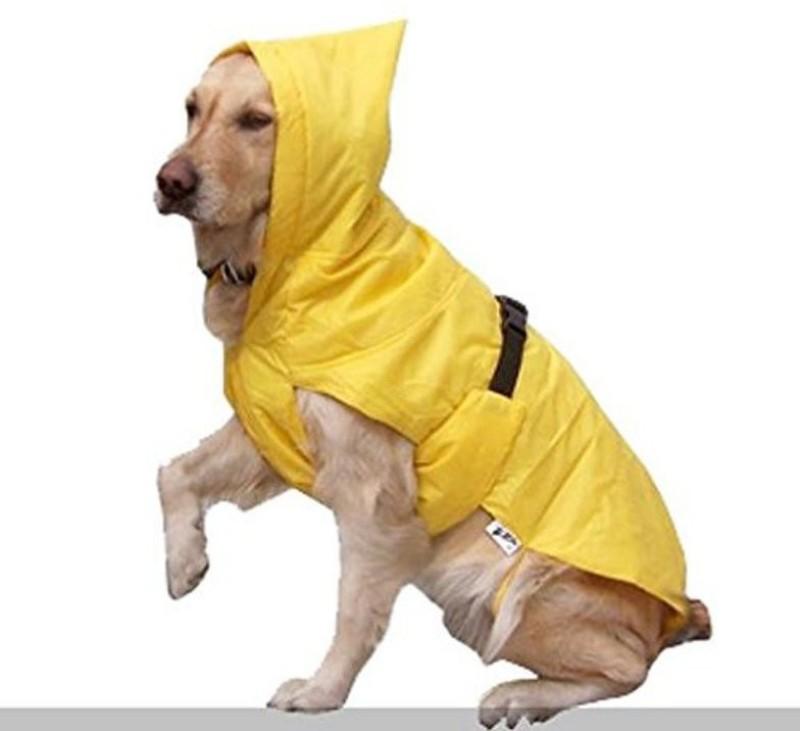 Birds' Park Dog Rain Coat 'EXPORT QUALITY' for your pet (DOG RAIN COAT) Size 36 36 Rain Sheet(Yellow)