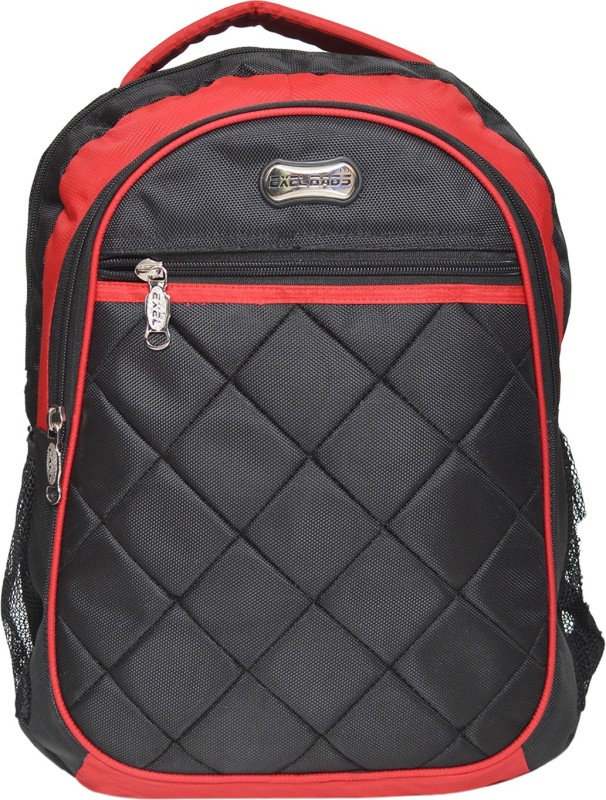 Exel Bags Trendy Backpack 30 L Laptop Backpack(Red, Black)