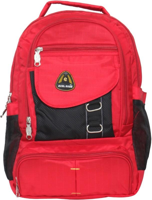 Exel Bags Trendy Backpack 40 L Laptop Backpack(Red, Black)