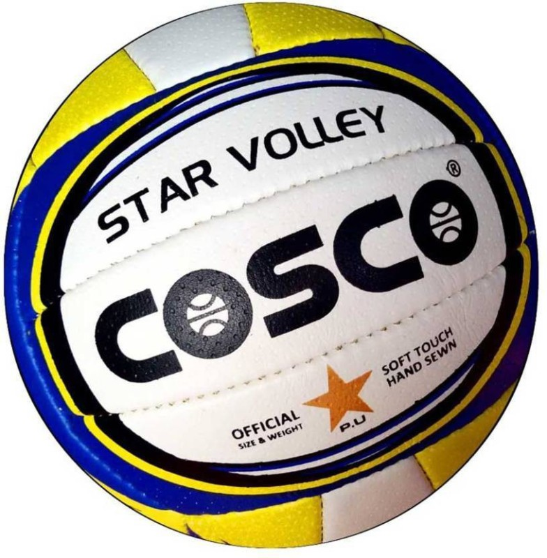 Cosco STAR VOLLEY Volleyball - Size: 4(Pack of 1, Multicolor)