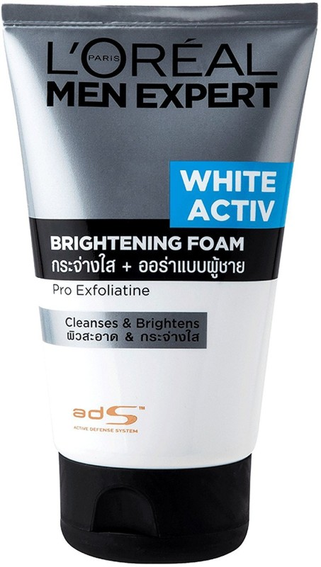 LOreal Men Expert White Active Brightening Foam Pro Exfoliatine Cleanses & Brightens Face Wash(100 ml)