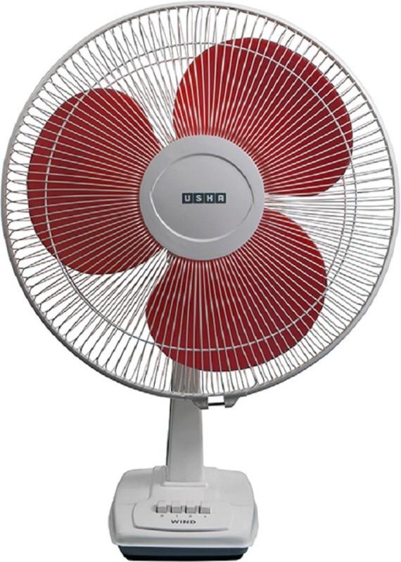 Usha Wind 3 Blade Table Fan(Red)