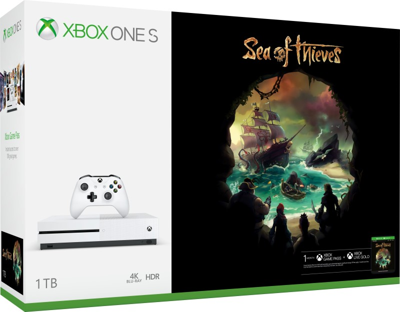 Microsoft Xbox One S 1 TB with Sea of Thieves(White)