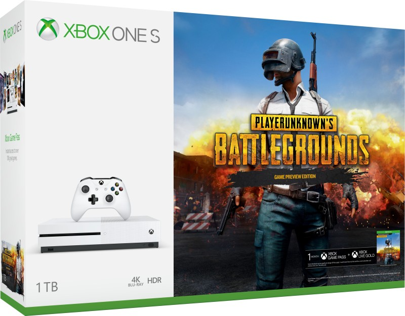 Microsoft Xbox One S 1 TB with PlayerUnknown's Battlegrounds(White)
