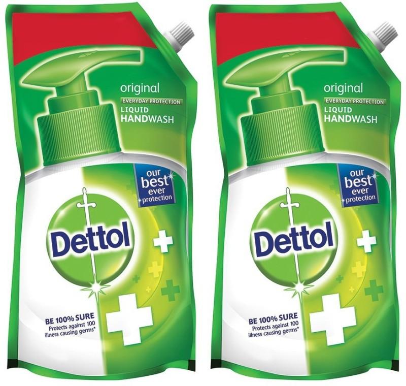 Dettol Original Liquid Handwash(1500 ml, Pouch, Pack of 2)