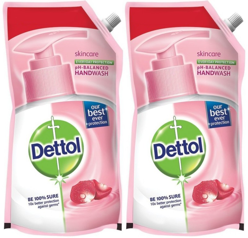 Dettol Skincare Hand Wash(1500 ml, Pouch, Pack of 2)