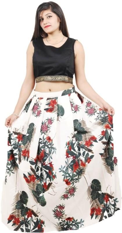 Omstar Fashion Printed Semi Stitched Lehenga Choli(Multicolor)