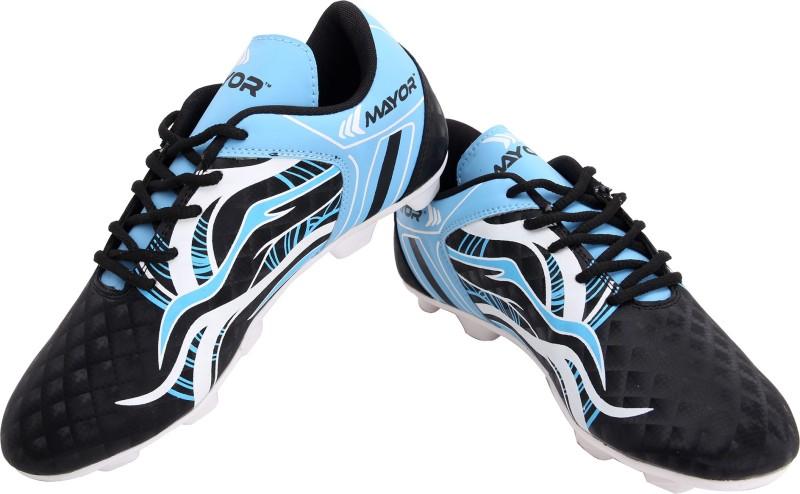Mayor Fiero Women's Football Shoes For Women(4, Black, Blue) image