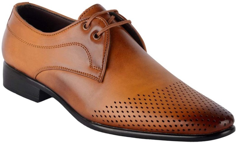 ShoeAdda Derby For Men(Tan)