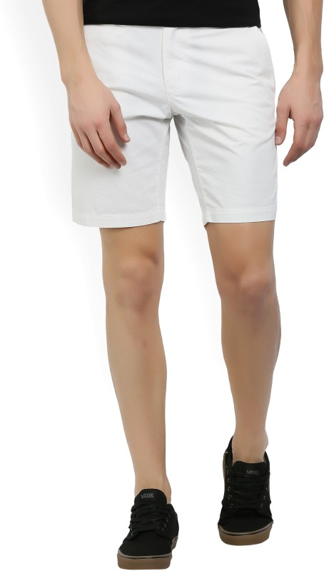 Tommy Hilfiger Solid Mens White Chino Shorts
