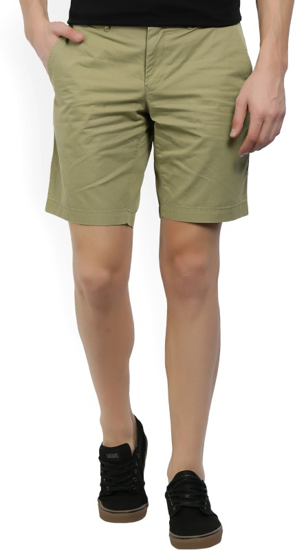 Tommy Hilfiger Solid Mens Beige Chino Shorts